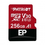 256GB microSDXC Patriot V30 A1, class 10 U3 100/80MB/s + adapter, PEF256GEP31MCX