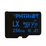 256GB microSDXC Patriot V10 A1, class 10 U1 až 90MB/s + adapter, PSF256GLX11MCX