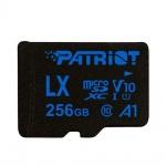 256GB microSDXC Patriot V10 A1, class 10 U1 až 90MB/s + adapter, PSF256GLX11MCX