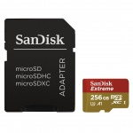 SanDisk Extreme microSDXC 256GB 100MB/s + adaptér, SDSQXAO-256G-GN6MA