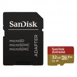 SanDisk Extreme microSDHC 32GB 100MB/s + adaptér, SDSQXAF-032G-GN6AA