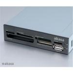 AKASA int. USB 2.0 interní čtečka karet + USB 2.0, AK-ICR-07