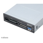 AKASA i/e USB 2.0 interní čtečka karet + USB 3.0, AK-ICR-07U3
