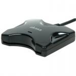 AKASA externí čtečka Smart karet - černá, AK-CR-03BKV2