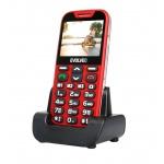 EVOLVEO EasyPhone XD, mobilní telefon pro seniory s nabíjecím stojánkem (červená barva), EP-600-XDR