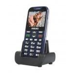 EVOLVEO EasyPhone XD, mobilní telefon pro seniory s nabíjecím stojánkem (modrá barva), EP-600-XDL