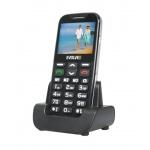 EVOLVEO EasyPhone XD, mobilní telefon pro seniory s nabíjecím stojánkem (černá barva), EP-600-XDB