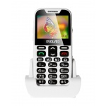 EVOLVEO EasyPhone XD, mobilní telefon pro seniory s nabíjecím stojánkem (bílá barva), EP-600-XDW
