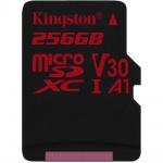 256GB microSDXC Kingston U3 100R/80W bez adapt., SDCR/256GBSP