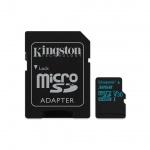32GB microSDHC Kingston Canvas Go UHS-I U3 V30 90R/45W + SD adaptér, SDCG2/32GB