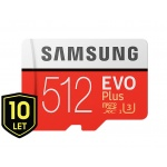 Micro SDXC 512GB Samsung EVO Plus + SD adaptér, MB-MC512GA/EU