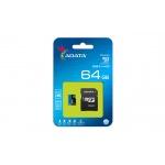 ADATA MicroSDXC 64GB UHS-I 85/25MB/s + adapter, AUSDX64GUICL10 85-RA1
