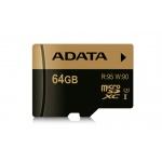 ADATA MicroSDXC 64GB U3 až 95/90MB/s, AUSDX64GXUI3-R