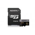 ADATA MicroSDXC 64GB U3 až 95MB/s + adapter, AUSDX64GUI3CL10-RA1