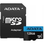 ADATA MicroSDXC 128GB UHS-I 85/25MB/s + adapter, AUSDX128GUICL10A1-RA1