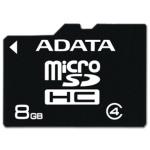 ADATA 8GB MicroSDHC Card Class 4, AUSDH8GCL4-R