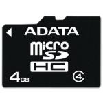 ADATA 4GB MicroSDHC Card with Adaptor Class 4, AUSDH4GCL4-RA1