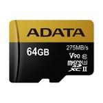 ADATA 64GB MicroSDXC UHS-II U3 bez adapteru, AUSDX64GUII3CL10-C