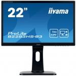 """22"""" iiyama B2283HS-B3 - TN,FullHD,1ms,250cd/m2, 1000:1,16:9,VGA,HDMI,DP,repro,výškov.nast.,pivot, B2283HS-B3"""