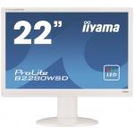 "22""LCD iiyama B2280WSD-W1 - 5ms, 250cd/m2, 16:10, 1000:1, VGA, DVI, repro, pivot, výšk.nastav., bílý, B2280WSD-W1"