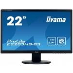 """22""""LCD iiyama E2283HS-B3 - 1ms, 250cd/m2, FullHD, 1000:1 (12M:1 ACR), VGA, HDMI, DP, repro, černý, E2283HS-B3"""