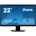 """22""""LCD iiyama X2283HSU-B1DP -5ms, 3000:1 (12M:1 ACR), FullHD, VGA, DVI, DisplayPort, 3x USB, repro, X2283HSU-B1DP"""