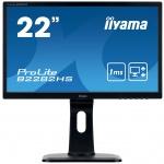 "22"" iiyama B2282HS-B1 - TN,FullHD,1ms,250cd/m2, 1000:1,16:9,VGA,HDMI,DVI,repro,pivot,výškov.nastav., B2282HS-B1"