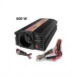 Měnič napětí Carspa CAR600U-122 12V/230V+USB 600W, modifikovaná sinus, CAR600U-122