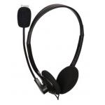 Gembird sluchátka MHS-123, s mikrofonem, černá, MHS-123