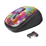 myš TRUST Yvi Wireless Mouse - flower power, 20250