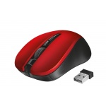 myš TRUST Mydo Silent Click Wireless Mouse - red (tichá myš), 21871