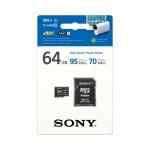 SONY microSD karta 64GB, class10, 95MB/s, adapter, SR64UXA