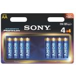 SONY Alkalické baterie AM3PT-B4X4D , 8ks LR6/AA, AM3PT-B4X4D