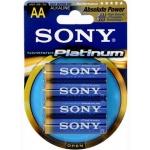 SONY Alkalické baterie AM3PTB4D, 4ks LR06/AA, Stamina Platinum, AM3PT-B4D
