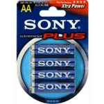 SONY Alkalické baterie AM3B4D, 4 ks LR6/AA, Stamina Plus, AM3-B4D