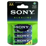 SONY Alkalické baterie AM3LB4D, 4ks LR6/AA Eco Blue, AM3L-B4D