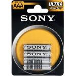 SONY Baterie tužkové R03NUB4A, 4ks R03/AAA ULTRA, R03NUB4A