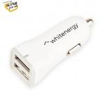Whitenergy WE auto adaptér 2x USB 5V 2400mA Blister White, 10424 - neoriginální