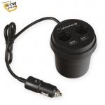 Whitenergy WE auto adaptér CUP 2+ 2x USB, 2xCS 5V 9.6A, 10421 - neoriginální