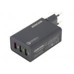 AVACOM HomeMAX 2 síťová nabíječka s Qualcomm Quick Charge 2.0, 3x USB výstup, černá, NASN-QC3X-KK - neoriginální
