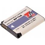 Baterie T6 power Samsung BP-70A, BP70A, SLB-70A, 620mAh, černá, DCSA0014 - neoriginální