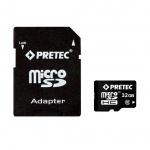 Pretec MicroSDHC 32 GB CLASS 10 + SD adaptér, PC10MC32G