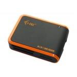 i-tec USB 2.0 univerzální čtečka (černo/oranž), USBALL3-B