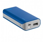 TRUST Primo PowerBank 4400 Portable Charger - blue, 21225