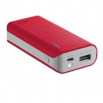 TRUST Primo PowerBank 4400 Portable Charger - red, 21226