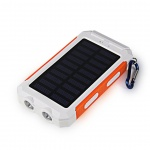 VIKING Solární Outdoorová Powerbanka Delta I 8000mAh, Bílo-Oranžová, DEL080WO