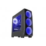 Počítačová skříň Genesis Titan 750 BLUE MIDI (USB 3.0), 4 ventilátory s modrým podsvícením, NPC-1126