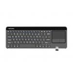 Bezdrátová klávesnice s touch padem pro Smart TV Natec Turbot, hliníkové tělo, NKL-0968