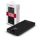 AXAGON PWB-L10QD, ALU SLIM Powerbanka Li-pol 10000mAh, QC3.0 IN/OUT Type-C, LCD displej, PWB-L10QD