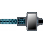 GAIAM Sport Armband Blue Diamond - medium phone, 07346